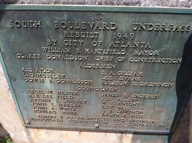 Original Boulevard Tunnel sign